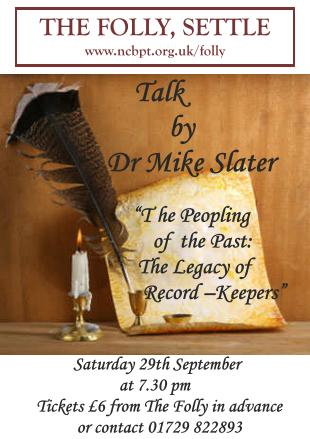 Mike Slater, talk ' The Peopling of the Past: the Legacy of Record-Keepers', 29 Sept 2012, poster  (JPG, 30Kb)