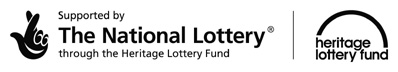 Logo: Supported by the National Lottery through the Heritage Lottery Fund (black, reduced, from hlf.org.uk) (JPG, 10Kb)